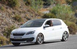Peugeot 308 GTi 2014 шпионы тайно сфотографировали и выложили в интернет (фото + видео)